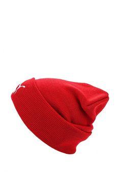Шапка Puma LS core knit Шапка Puma. Цвет: красный.  Сезон: Осень-зима 2016/2017. Одежда, обувь и аксессуары/Женская одежда/Головные уборы