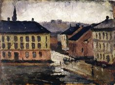 Edvard Munch - Olaf Rye's Square towards South East, 1882