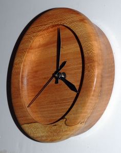 Turned Wood Wall Clock of American Lacewood by WoodArtForLiving