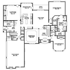 bedroom single family house plans   About The Oak III   homes     bedroom single family house plans   House Plan Details