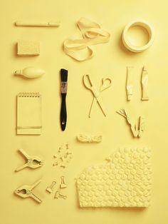 objects of my profession: prop stylist. Still life Stylist Sarah Akwisombe, photographer Dan Annett Pastel Yellow, Shades Of Yellow, Mellow Yellow, Object Photography, Still Life Photography, Design Set, Prop Styling, Interior Stylist, Interior Design