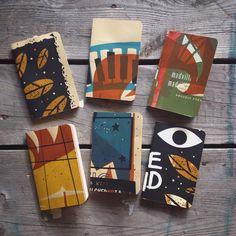 Handmade notebooks made with test prints. #serigraphie #silkscreen #screenprint #notebook #handmade