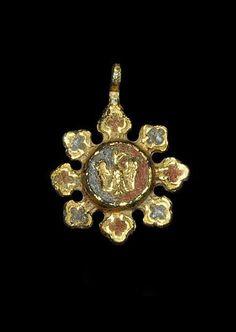 Medieval 'Heraldic Eagle' Harness Pendant.