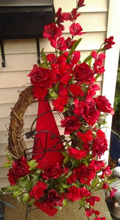 Black Baccara Designs is a Full Service Florist. We offer custom wedding and event designs. Custom home decor and special ocassion flowers. Funeral Flowers, Wedding Flowers, Corsage And Boutonniere, Football Themes, Red Flowers, Grapevine Wreath, Event Design, Grape Vines, Custom Homes
