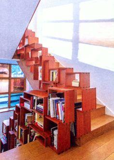 Annabel Karim Kassar - architect - home staircase/bookcase