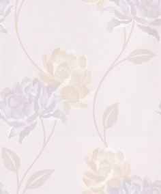 Peony Pearl (30-018) - Dulux Wallpapers - A large scale floral that will add a dramatic touch to any room. Showing in Pearl - other colour ways available. Please request a sample for true colour match. Paste-the-wall product.