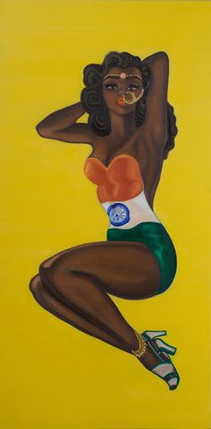 """""""Badass Indian Pinups"""" is a series of paintings by Indo-Canadian artist Nimisha Bhanot. And it's FUCKIN BADASS AS HELL. This Pinup Series Portrays Indian Women (Accurately) As Sexually Liberated Badasses Woman Painting, Artist Painting, Indian Illustration, Car Illustration, Indian People, Feminist Art, Brown Girl, Canadian Artists, American Artists"""