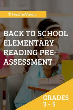 This elementary reading pre-assessment for back to school is designed to help you benchmark reading assessment levels for grades 3 through 5 and plan for intervention and remediation of learning gaps resulting from remote, hybrid, and quarantine instruction, or summer learning loss. Reading Resources, School Resources, Reading Skills, Teacher Resources, The New School, New School Year, Back To School, Reading Assessment, 5th Grade Reading