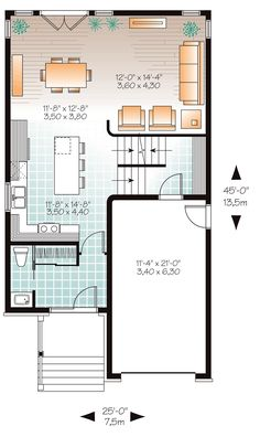 Contemporary Modern Level One of Plan 76327