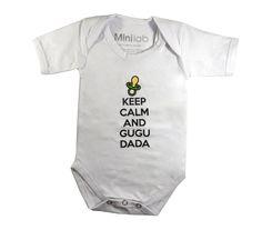 """""""Keep calm and Gugu Dada """" Body estiloso para seu pequeno. Agora no site ! www.repipiu.com.br"""