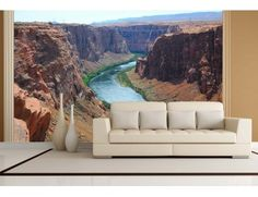 "Our mural ""Colorado River (United States)"". A wallpaper mural by Muralunique.com."