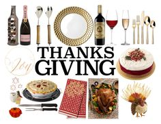 """""""Happy Thanksgiving!"""" by st3phk4ur ❤ liked on Polyvore featuring interior, interiors, interior design, home, home decor, interior decorating, Pier 1 Imports, L'Objet, LSA International and Rogaska"""