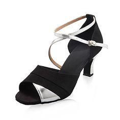 salón de baile zapatos práctica de la danza de satén superior zapatos de baile latino para las mujeres más colores – EUR € 20.90
