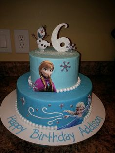 Disney Frozen cake by Amy Clark