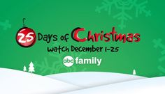 Are you ready to get into the holiday spirit? After reading this, you'll wantto set some time aside andcatch up on all the best Christmas movies.ABC Family just unveiled its 25 Days Of Christmas program schedule, so December will bejam-packed with enough Christmas movies to max out even the most