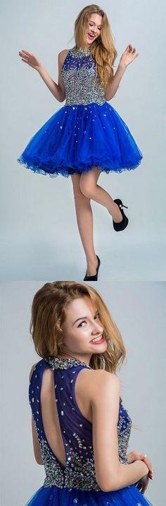 Royal blue homecoming dresses,homecoming dresses,cheap short prom dresses,elegant prom dresses for teens,YY130