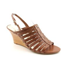 Etienne Aigner Persephony Strappy Slingback Wedge Heel ** Visit the image link more details.