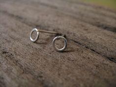Tiny hoop stud earrings