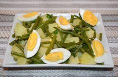 Insalata di patate fagiolini e uova