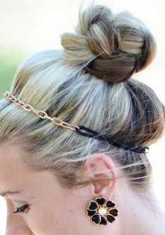 Braided Top Knot with Plaits