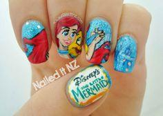 Nailed It NZ: Disney Nail Art #4 - The Little Mermaid http://www.naileditnz.com/2014/01/disney-nail-art-4-little-mermaid.html