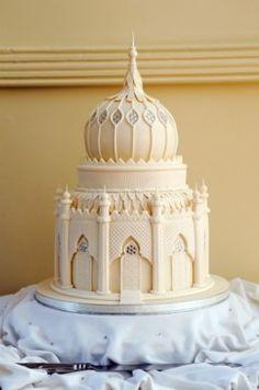 Taj Mahal Wedding cake for Disney Aladdin Wedding Royal Cakes, Indian Wedding Cakes, Elegant Wedding Cakes, Cake Wedding, Indian Weddings, Unique Cakes, Creative Cakes, Beautiful Cakes, Amazing Cakes