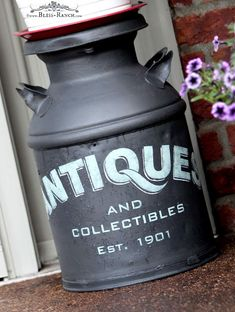 Antique Milk Can Old Sign Stencils Fusion Mineral Paint Bliss-Ranch.com