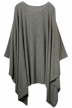 Asymmetric Pleated Grey Dress