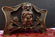 Judd Mfg Co bronze owl expanding bookstand