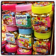Rilakkuma mini jars of erasers ^__^