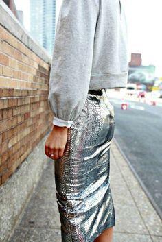 City shine #metallic #snakeskin