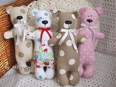 Macko, medvedík - šitá dekorácia by MariaTokynka - SAShE.sk - Handmade Hračky