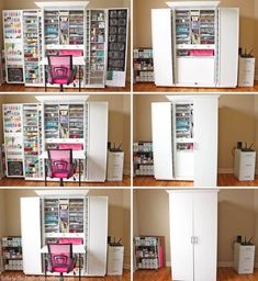 Thinking of buying a WorkBox to store all of your craft supplies? Heres what you need to know before adding one to y Sewing Room Organization, Craft Room Storage, Craft Room Design, Sewing Cabinet, Creation Deco, Hobby Room, Sewing Rooms, Space Crafts, Diy Craft Projects