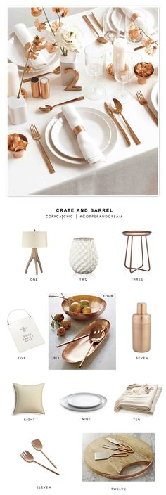 Copy Cat Chic: Saturday Shopping | Copper and Cream | A few of my faves from @crateandbarrel to get you started!