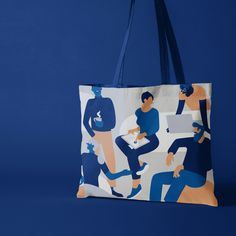 Höegh tote by Blake Reusable Tote Bags, Illustration, Design, Illustrations, Design Comics