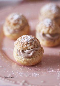Choux craquelins chantilly mascarpone nutella