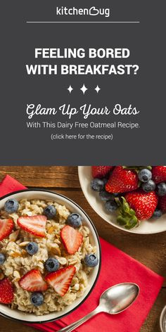 Bored with breakfast? Try a dairy free version of your classic oatmeal recipe.