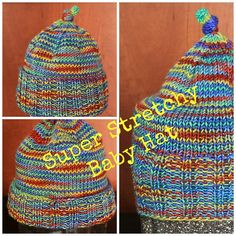 super stretchy baby hat free patter
