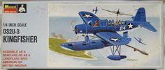 Monogram 1/48 OS2U-3 Kingfisher - RAF or US Navy Blue Box Issue - (OS2U3), PA135-150 plastic model kit