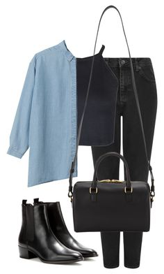 """B/S"" by elly98 ❤ liked on Polyvore featuring Topshop and Yves Saint Laurent"