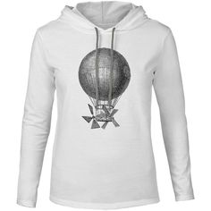 Mintage Magnificent Air Machine Mens Fine Jersey Hooded T-Shirt