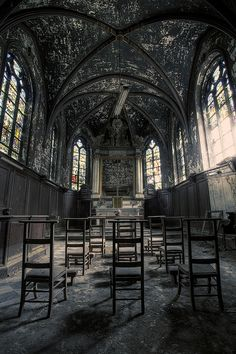 Abandoned church, Belgium. Urbex - abandoned building - urban exploration - urban decay - abandoned church