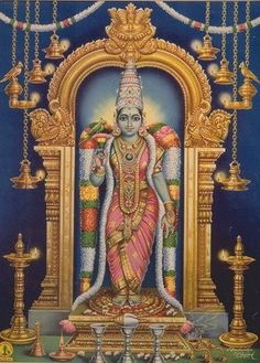 Goddess Meenakshi -- She with fish-like eyes. Have included Maa Meenakshi in the Das Mahavidya Pantheon due to Her carrying a parrot in many ways similar to Maa Matangi