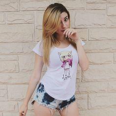 Tengo esa remera!!!!! Lyna Youtube, Harley Quinn, Kawaii, Victoria, T Shirts For Women, Stars, Tank Tops, Sexy, Beauty