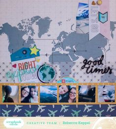 Layout by Rebecca Keppel with Scrapbook Circle July kit.