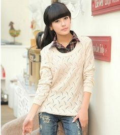 ecru knitted sweater