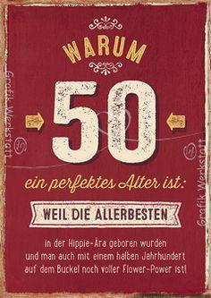 Warum 50 ein perfektes Alter ist: - Doppelkarten - Grafik Werkstatt ...