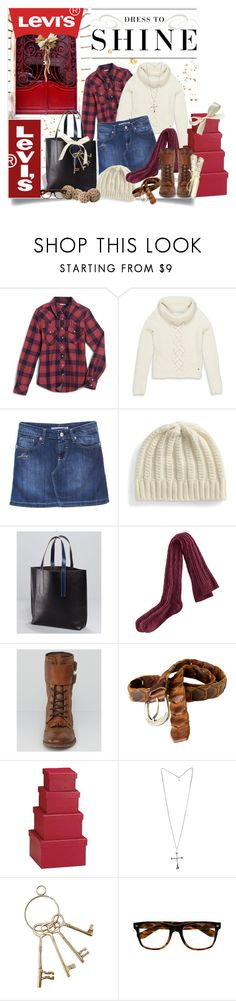"""Lovely Levi's"" by adduncan ❤ liked on Polyvore featuring Modern Vintage, Levi's, H&M, Zadig & Voltaire, Crate and Barrel and levi's levis polyvore"