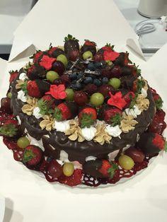 Tarta fresas y chocolate