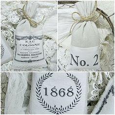 Bolsitas de lavanda: Shabby Chic Inspirado Vintage French sachets, sacks